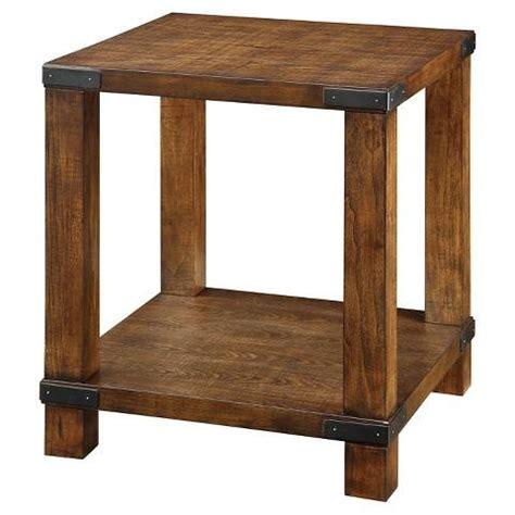 weathered wood end table furniture of america reymond weathered industrial brown