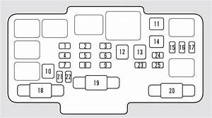 Honda Civic  2002 - 2005  - Fuse Box Diagram