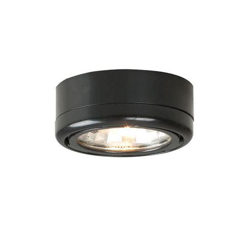 hton bay 1 light cabinet black puck light