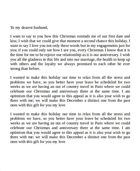 sample love letters   husband  examples  word