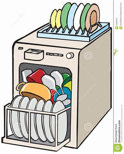 Dishwasher Dishes Clipart Open Dirty Sink Clip
