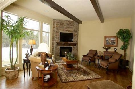 Ideas For Living Room Corner by Brick Living Room Corner Fireplace Brick Corner