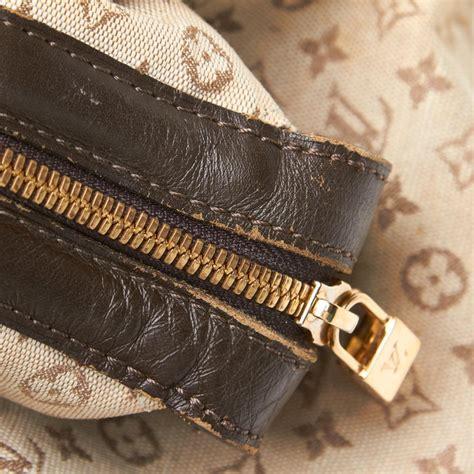 louis vuitton brown beige cotton fabric mini lin josephine gm france  sale  stdibs