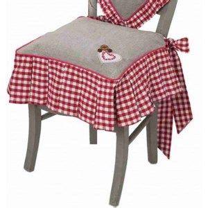 galette de chaise avec volant galette de chaise volant vichy heminspiration