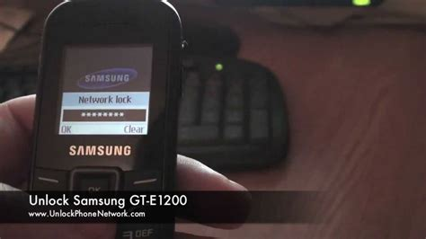 how to unblock a phone how to unlock samsung gt e1200 orange vodafone o2 t mobile