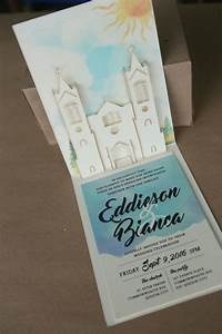 3d 2d pop up lasercut wedding invites philippines With pop up wedding invitations philippines