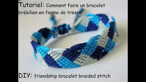 comment faire des bracelets élastiques comment faire un bracelet br 233 silien en forme de tresse diy friendship bracelet braided stitch