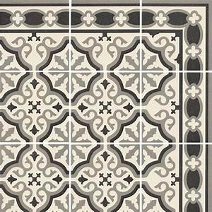 carrelage imitation carreau ciment sol et mur blanc 20 x With carrelage imitation carreaux de ciment point p