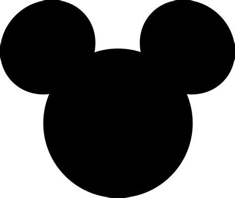 Mickey Mouse Silhouette Template by Mickey Mouse Silhouette Template Pictures To Pin On