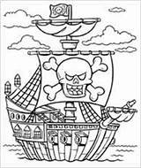 Pirate Coloring Pages Theme Preschool Boats Activities Games sketch template