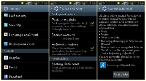 how to reset a android phone how to factory reset android smartphone tablet