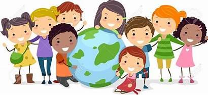 Clipart Discovery Multiracial Culture Clip Globe Cartoon
