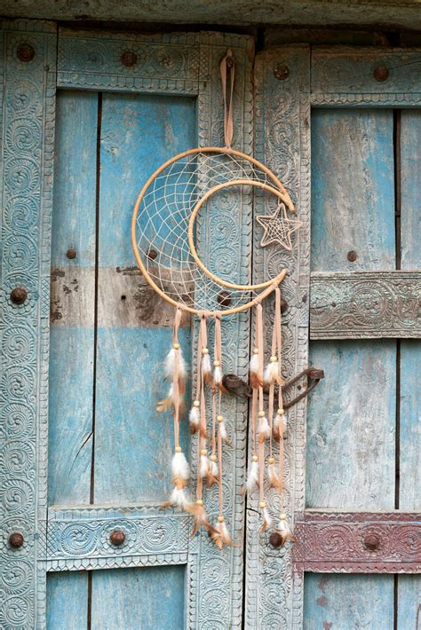 rattan crescent moon dreamcatcher earthbound trading