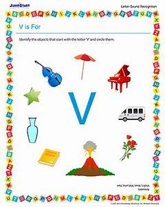 V is For – Free Letter & Sound Recognition Worksheet for ...