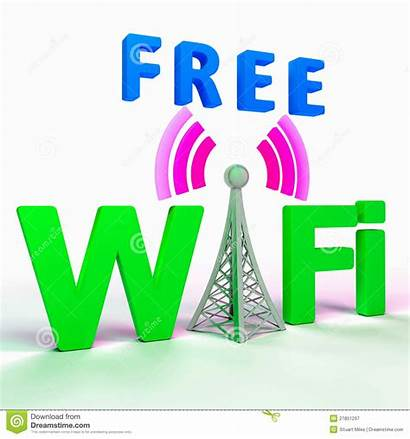 Wifi Internet Connection Hotspot Symbol Shows Verbinding