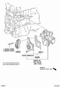 2012 Toyota Sienna Engine Water Pump Gasket  Gasket For