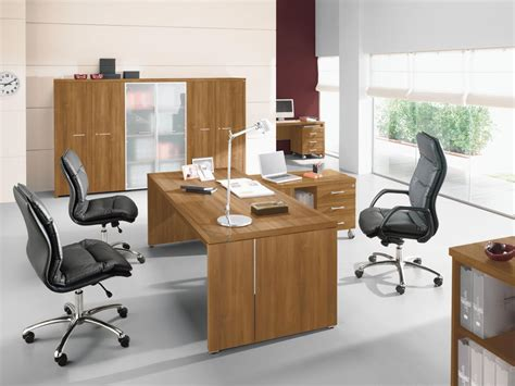 les bureau bureau direction bois ambiance raffinée bureaux