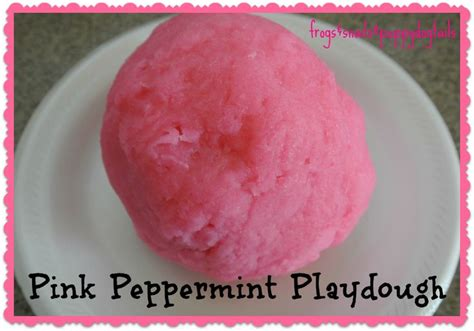 pink peppermint how to make pink peppermint playdough crafts puppys and