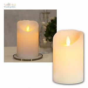 Led Kerzen Echtwachs : led echtwachs kerze mit timer beweglicher flamme flammenlose flackernd kerzen ebay ~ Eleganceandgraceweddings.com Haus und Dekorationen