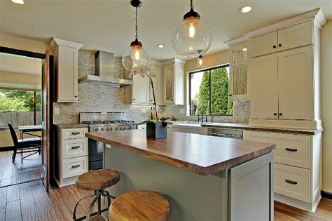 kitchen cabinet renovation before after a stunning two toned kitchen remodel 2725