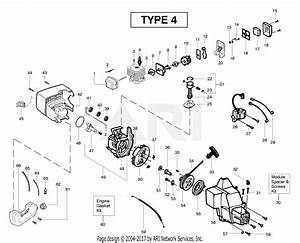 Poulan Pl500 Gas Trimmer Type 4 Parts Diagram For Engine