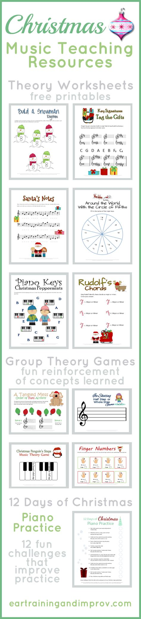 Christmas Music Theory Worksheets  20+ Free Printables