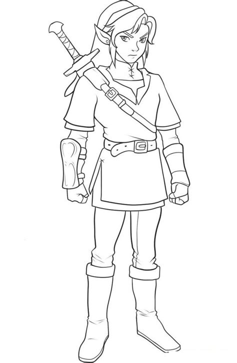 printable zelda coloring pages  kids