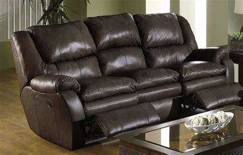 catnapper allegro dual reclining leather sofa