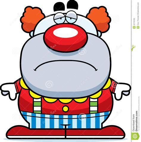 sad cartoon clown stock vector illustration  tired