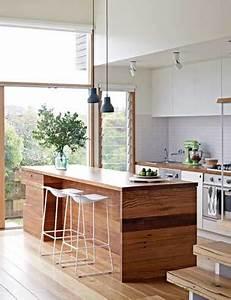 Deco Cuisine Bois : cuisine verri re d co design en blanc et bois ~ Melissatoandfro.com Idées de Décoration