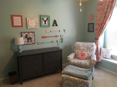 woodland 39 s nursery in mint coral and gray project nursery