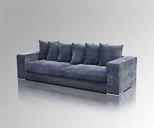 Sofa 4 Sitzer : samt sofa 4 sitzer blau ~ Eleganceandgraceweddings.com Haus und Dekorationen