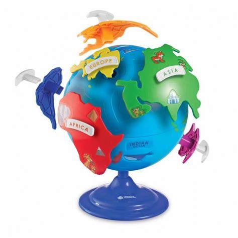 Детски пъзел - Глобус с континенти • Гуга