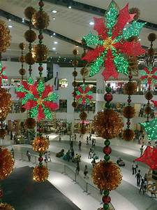 Scant, Christmas, Decorations, In, Shopping, Malls