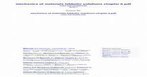 Hibbeler Mechanics Of Materials 10th Edition Pdf Free