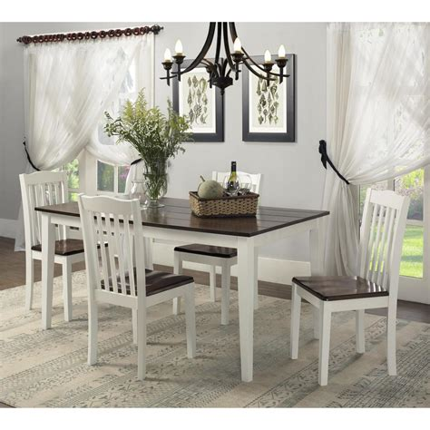 white rustic kitchen table set dorel shiloh 5 white rustic mahogany dining