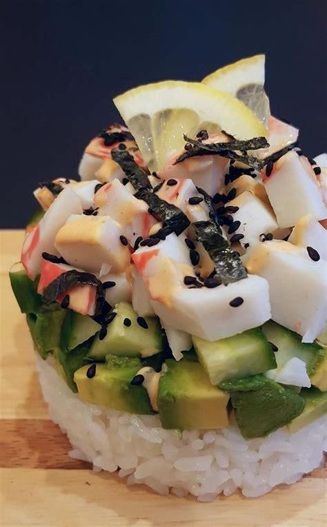 sushi roll california stacks foodista recipes