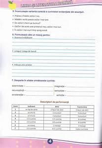 Teste De Evaluare  Descriptori De Performanta  - Clasa A Iv-a  Limba Romana