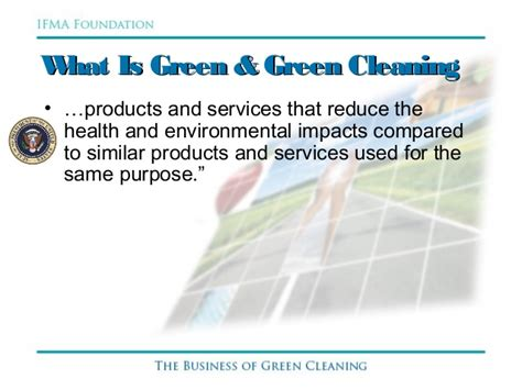 The Business Of Green Cleaning
