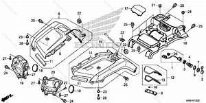 Honda Atv 2017 Oem Parts Diagram For Front Fender