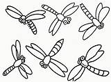 Dragonfly Coloring Pages Dragonflies Printable Cartoon Drawing Simple Dragon Cute Flies Clipart Colouring Realistic Clip Cliparts Fly Drawings Pattern Template sketch template
