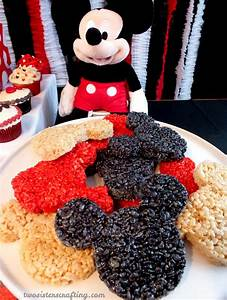 Mickey Mouse Rice Krispie Treats - Two Sisters