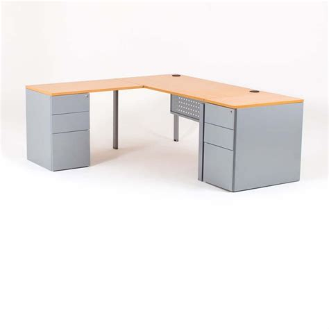 bureau dangle bureau d 39 angle optimum avec 2 caissons bdmobilier