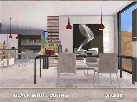 ungs black white dining