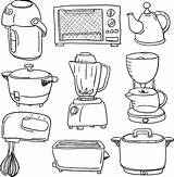 Appliances Electric Vector Microwave Appliance Coloring Clip Illustrations Illustration Kitchen Con Istock Household Cookware Istockphoto sketch template