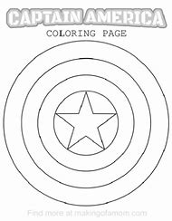 captain america shield coloring pages