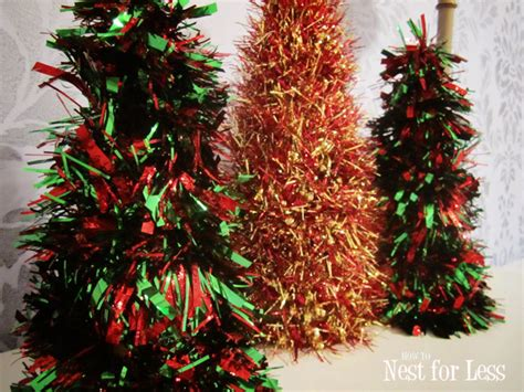 5 minute tinsel christmas cones how to nest for less