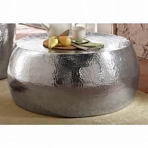 Table Basse Ronde Aluminium : table basse ronde en aluminium martel home affaire argent home affaire mobilier 3suisses ~ Teatrodelosmanantiales.com Idées de Décoration