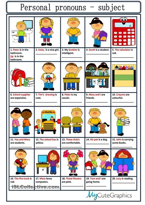 Personal Pronouns  Teaching English  Pinterest  Personal Pronoun