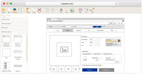 tools to create website templates wireframes mockups for effective web design